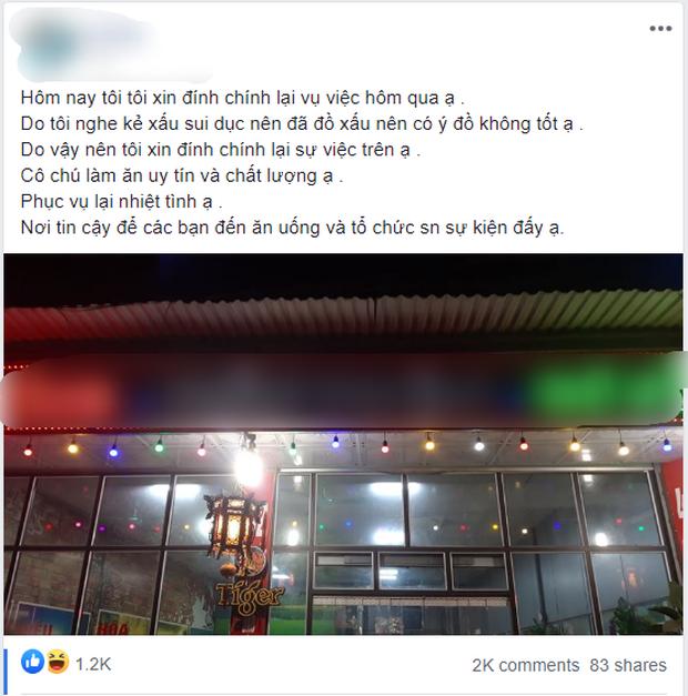 Người phụ nữ ở Bắc Ninh phải quỳ gối xin lỗi vì đăng bài bóc phốt đồ ăn của quán nướng có sán, công an vào cuộc xác minh - Ảnh 3.