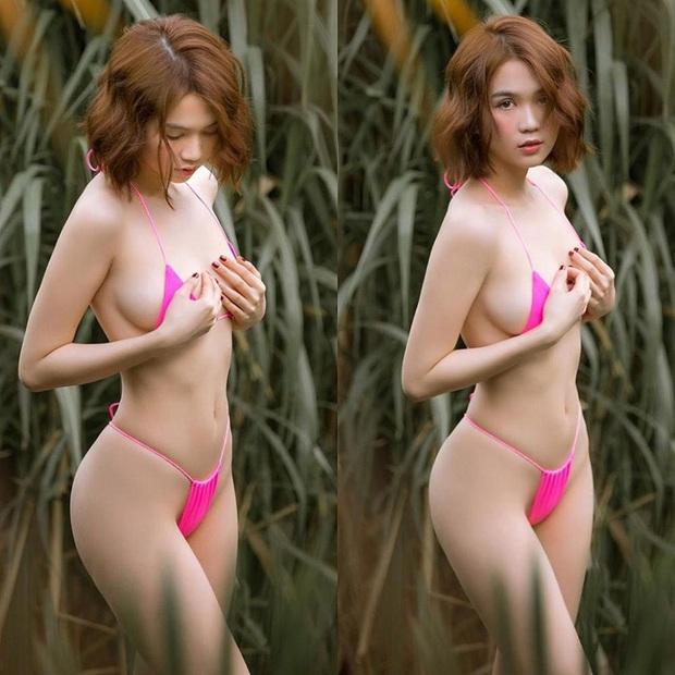 Toát mồ hôi hột khoảnh khắc gây lú của Ngọc Trinh: Diện bikini khoe body trên biển, nhìn không kỹ lại tưởng nude - Ảnh 5.