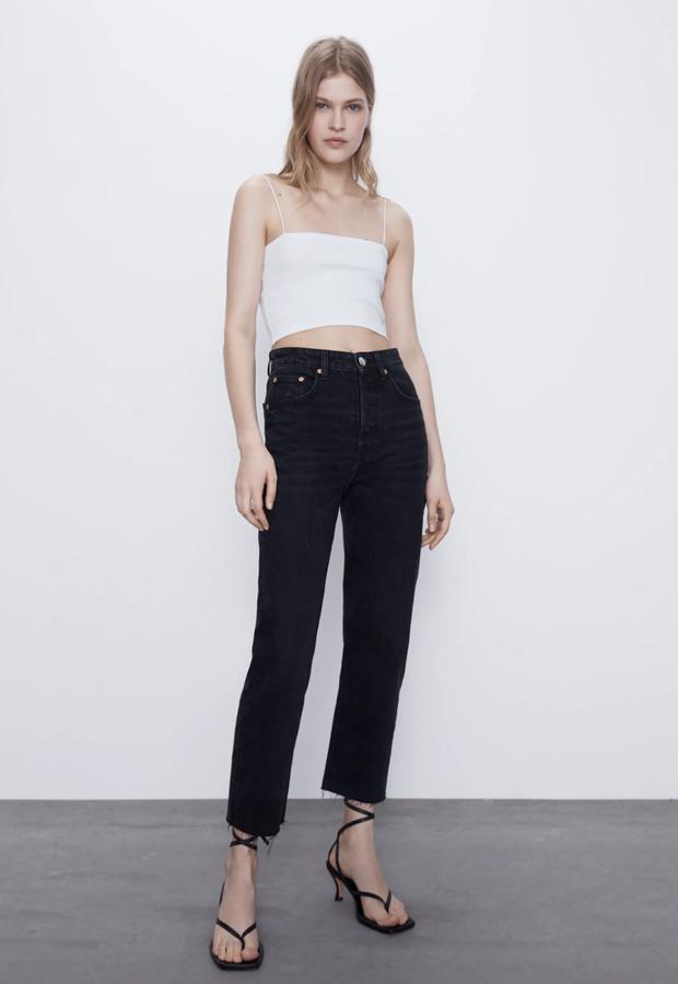 Nếu chỉ sắm 1 kiểu quần jeans, hãy chọn jeans ống đứng: Che nhược điểm đôi chân, mix với áo nào cũng đẹp mà giá chưa đến 200k - Ảnh 14.