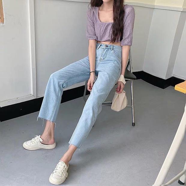 Nếu chỉ sắm 1 kiểu quần jeans, hãy chọn jeans ống đứng: Che nhược điểm đôi chân, mix với áo nào cũng đẹp mà giá chưa đến 200k - Ảnh 8.