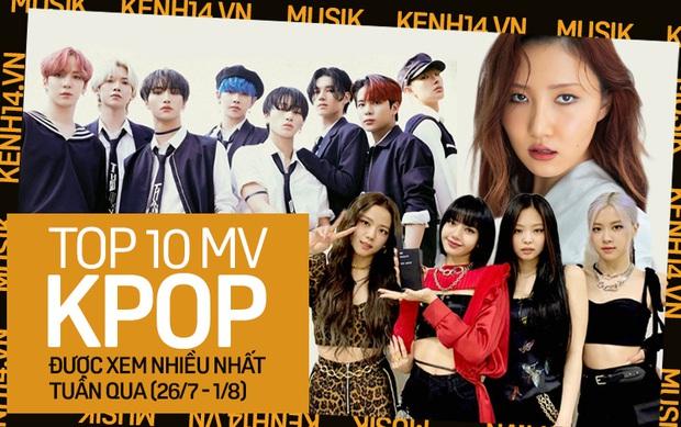 10 MV Kpop được xem nhiều nhất tuần: BLACKPINK tăng tốc cản màn cướp ngôi vương từ ATEEZ; Hwasa vượt mặt TWICE lẫn Stray Kids - Ảnh 1.