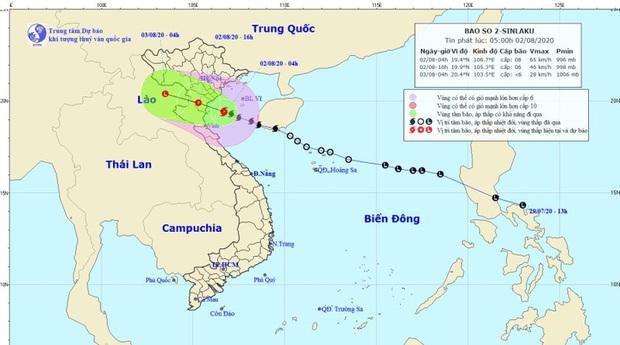 Bão số 2 giật cấp 10 áp sát các tỉnh từ Ninh Bình đến Nghệ An, tiếp tục gây mưa to đến rất to - Ảnh 1.