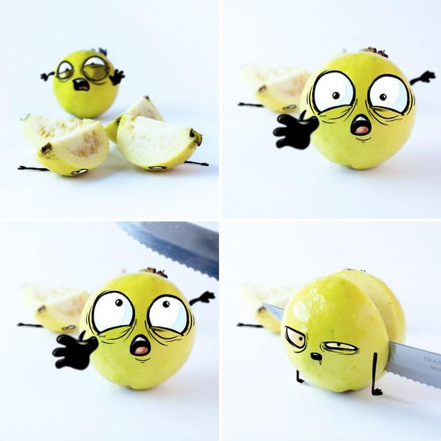 Khi trái cây vô hồn có cảm xúc: Loạt tác phẩm khắc họa nỗi đau và cuộc đời bi kịch của chúng khi bị con người xẻ thịt - Ảnh 3.