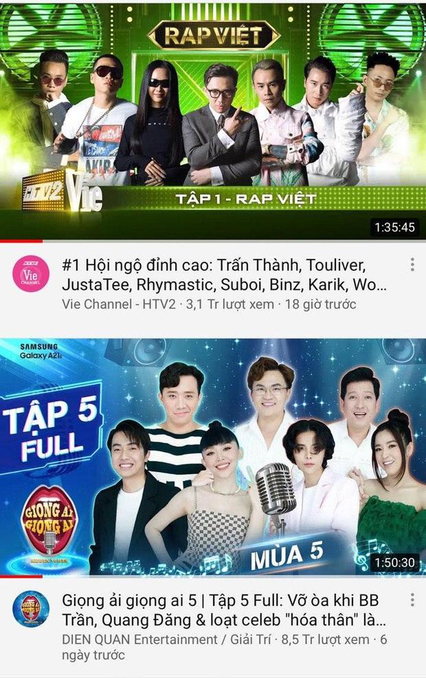 Trấn Thành thống trị top trending YouTube: Người ấy là ai dẫn đầu, Rap Việt khai màn với vị trí thứ 3! - Ảnh 2.