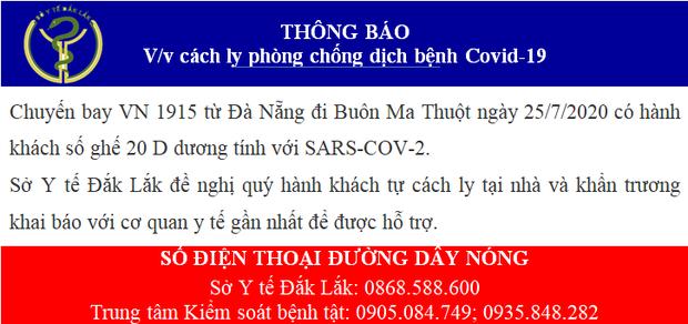 Thông báo khẩn tìm hành khách trên chuyến bay VN1915 từ Đà Nẵng về Buôn Ma Thuột ngày 25/7 - Ảnh 1.