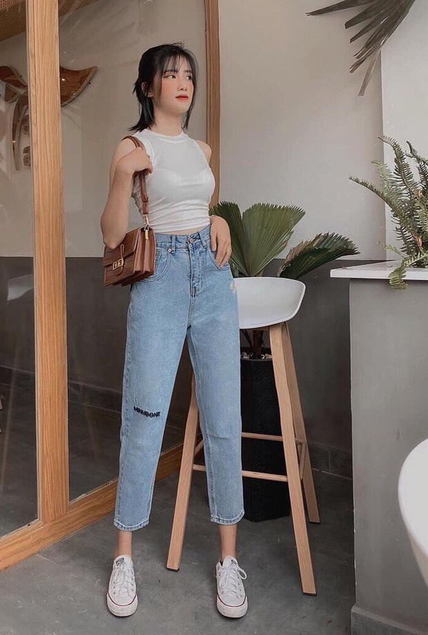 Nếu chỉ sắm 1 kiểu quần jeans, hãy chọn jeans ống đứng: Che nhược điểm đôi chân, mix với áo nào cũng đẹp mà giá chưa đến 200k - Ảnh 6.