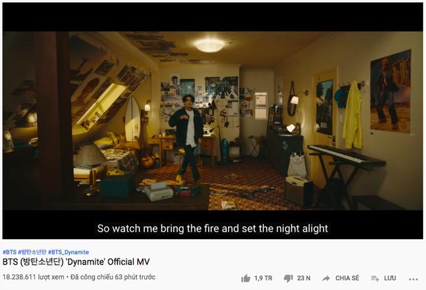 Dynamite của BTS thiết lập kỷ lục thế giới mới với cột mốc 10 triệu views và lượt xem công chiếu, làm nổ tung BXH nhạc số chỉ trong 1 giờ đầu - Ảnh 4.