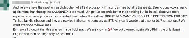 MV mới của BTS chẳng khác gì… Jungkook và những người bạn, fan bức xúc vì Jin lên hình 5 giây nhưng chưa phải người hát ít nhất - Ảnh 7.
