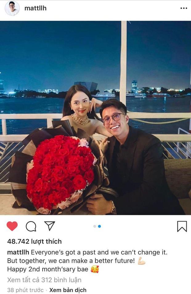 Bão like trên hình kỷ niệm 2 tháng của Hương Giang - Matt Liu, cặp đôi chưa bao giờ hết hot! - Ảnh 2.