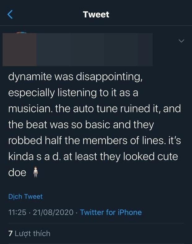Phản ứng của fan US-UK trước Dynamite của BTS: Lạm dụng auto-tune quá đà, phát âm tiếng Anh quá chán, sẽ hát nhép khi trình diễn live? - Ảnh 3.