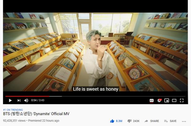 BTS xô đổ kỉ lục của BLACKPINK, Dynamite trở thành MV được xem nhiều nhất 24 giờ đầu trên toàn thế giới dù chưa tròn 1 ngày ra mắt! - Ảnh 2.