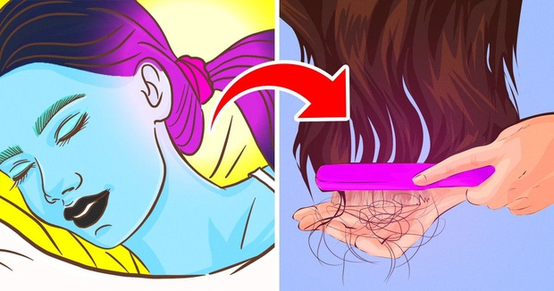Dừng ngay thói quen buộc gọn tóc khi ngủ bởi nó có thể gây ra 2 vấn đề sức khỏe vô cùng tai hại - Ảnh 1.