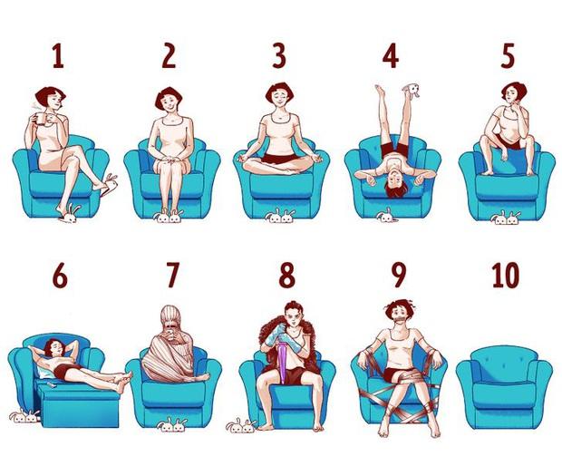Bạn thích kiểu ngồi như thế nào? Câu trả lời hé lộ rất nhiều điều về tính cách của bạn, thông qua bài Quiz sau đây - Ảnh 1.