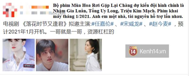 """Rộ tin Tống Uy Long """"vượt mặt"""" đàn anh Trần Vỹ Đình sắm vai nam chính phim mới, nữ chính Tôn Di cũng bị thay thế - Ảnh 1."""