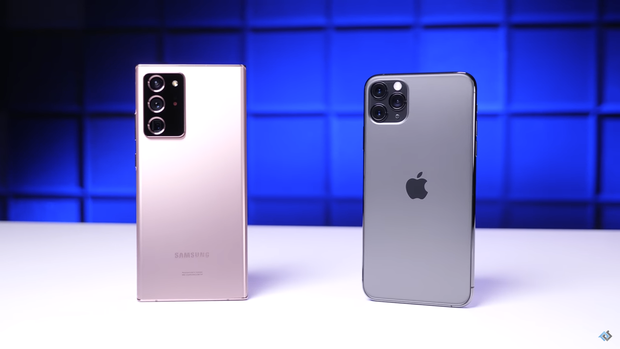 iPhone 11 Pro Max thua tan tác trước Samsung Galaxy Note20 Ultra trong màn tra tấn thử độ bền - Ảnh 1.