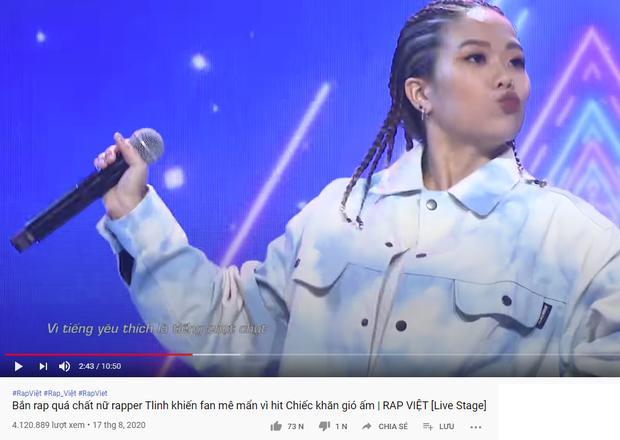 Tlinh bất ngờ phân thân để xem chính mình biểu diễn ở Rap Việt? - Ảnh 3.