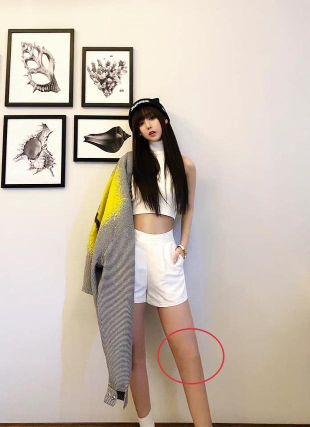 Bạn gái Karik bị soi chỉnh ảnh sống ảo quá tay đến mức đầu gối bay màu, nhưng cách giải thích lại khiến netizen thích thú - Ảnh 2.