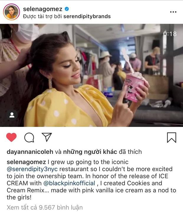 Cứ tưởng đùa, hoá ra màn kết hợp giữa BLACKPINK và Selena Gomez có đi kèm việc bán kem thật sự? - Ảnh 1.