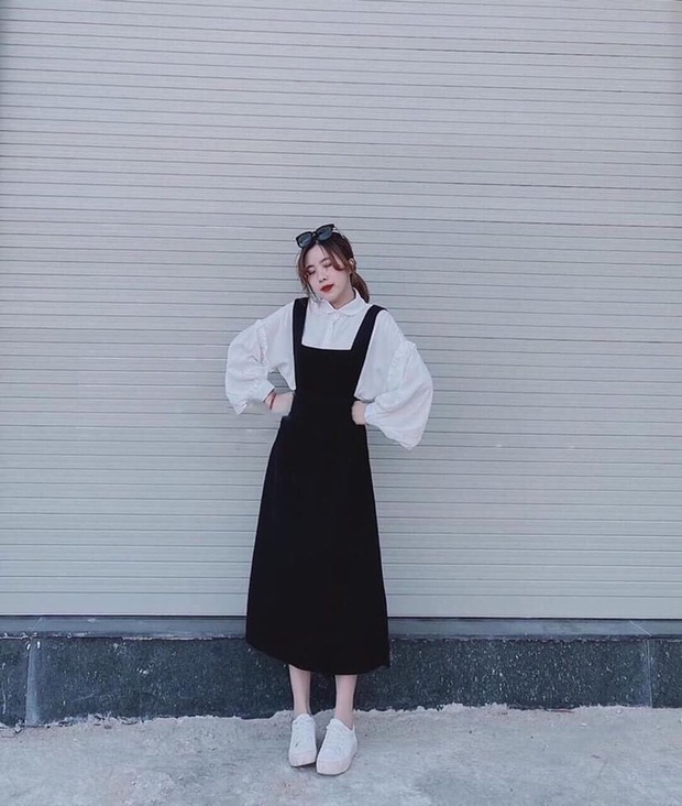 10 mẫu váy liền diện đi chơi cũng xinh mà đi học cũng ổn, cứ sắm theo thì đố ai chê được style của bạn - Ảnh 7.