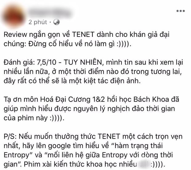 Khán giả Việt review nóng bom tấn TENET: Cảm giác như học Lý Hoá, cúi xuống nhặt bút ngước lên đã ngừng hiểu! - Ảnh 3.
