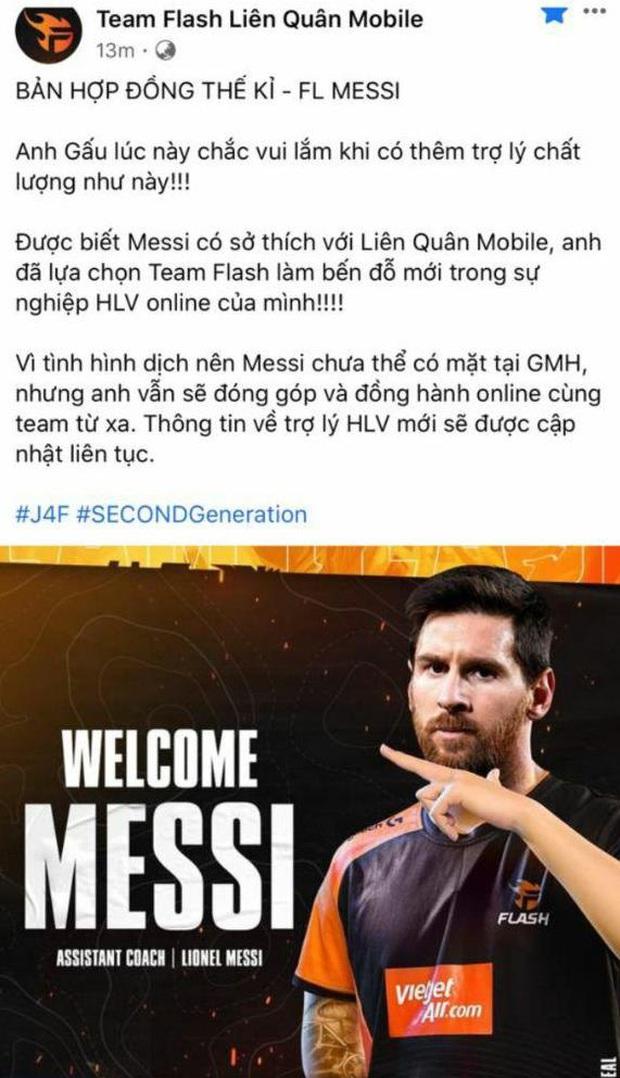 Hài hước: Messi rời Barcelona, hàng loạt đội tuyển eSports nhanh chóng đăng tin chiêu mộ thành công! - Ảnh 3.
