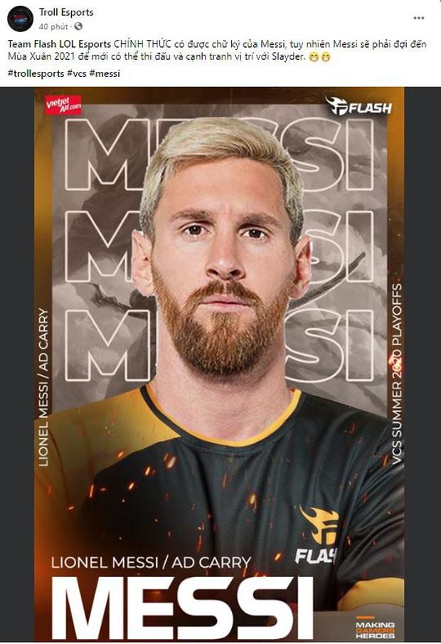 Hài hước: Messi rời Barcelona, hàng loạt đội tuyển eSports nhanh chóng đăng tin chiêu mộ thành công! - Ảnh 4.
