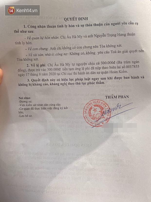 Vợ chồng giảng viên Âu Hà My chính thức ly hôn sau 2 tuần ồn ào - Ảnh 2.