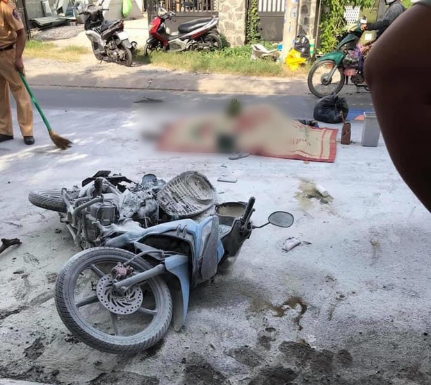TP. HCM: Xe bồn bỏ chạy sau va chạm khiến xe máy bốc cháy, nam thanh niên tử vong  - Ảnh 1.