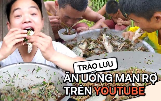 Rùng mình với trào lưu ăn uống man rợ trên YouTube: Câu like rẻ tiền với loạt video ăn cá sống và chất thải động vật? - Ảnh 1.