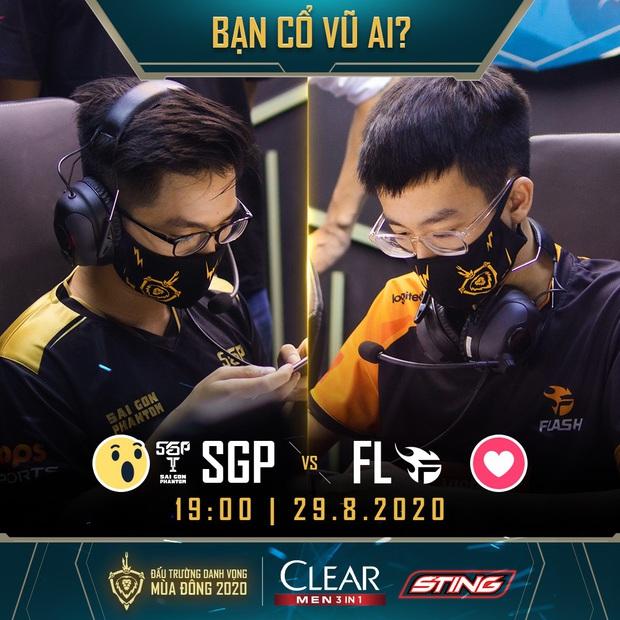 ĐTDV mùa Đông 2020: Team Flash gặp Saigon Phantom, trận thư hùng vạn người chờ của làng Liên Quân Mobile - Ảnh 2.