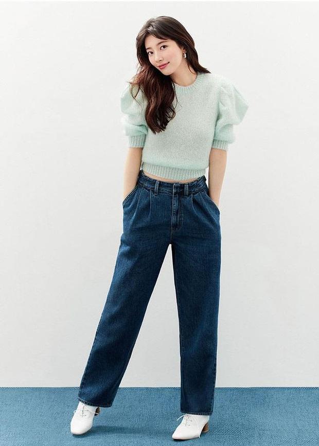 Nhìn Suzy bạn sẽ thấy khả năng tôn chân - dìm dáng một trời một vực giữa quần ống loe và quần ống suông - Ảnh 3.