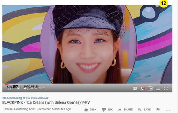 MV Ice Cream có hơn 1,7 triệu người xem công chiếu trực tiếp, BLACKPINK và Selena Gomez kết hợp không phá nổi kỉ lục của BTS! - Ảnh 5.