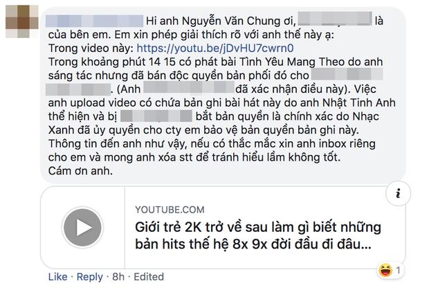 Nhạc sĩ Nguyễn Văn Chung bức xúc khi ca khúc của mình đăng trên kênh cá nhân bị đánh bản quyền, Khắc Việt - Nguyễn Trần Trung Quân đồng cảm - Ảnh 6.