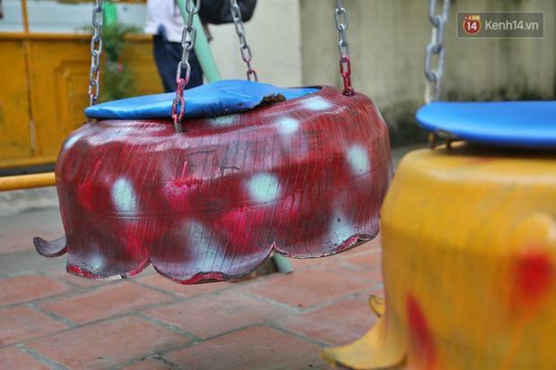 Hà Nội: Đồ phế liệu được tái chế làm khu thư giãn của người lớn, vui chơi miễn phí cho trẻ nhỏ - Ảnh 8.