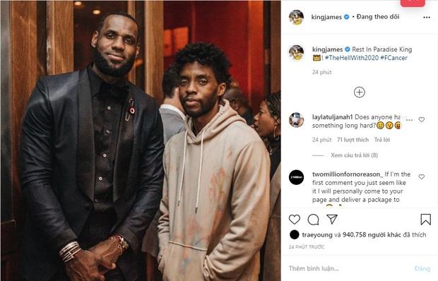 LeBron James cùng loạt sao NBA tiếc thương trước sự ra đi đột ngột của nam tài tử Black Panther Chadwick Boseman - Ảnh 1.