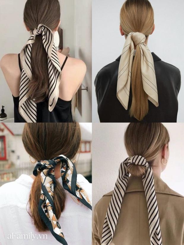 Gái Pháp buộc tóc đuôi ngựa thôi mà nhìn cứ bị mê đắm, hóa ra bí kíp nằm cả ở chiếc khăn thần thánh - Ảnh 1.