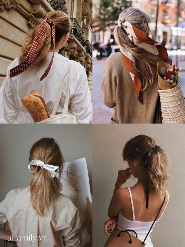 Gái Pháp buộc tóc đuôi ngựa thôi mà nhìn cứ bị mê đắm, hóa ra bí kíp nằm cả ở chiếc khăn thần thánh - Ảnh 4.