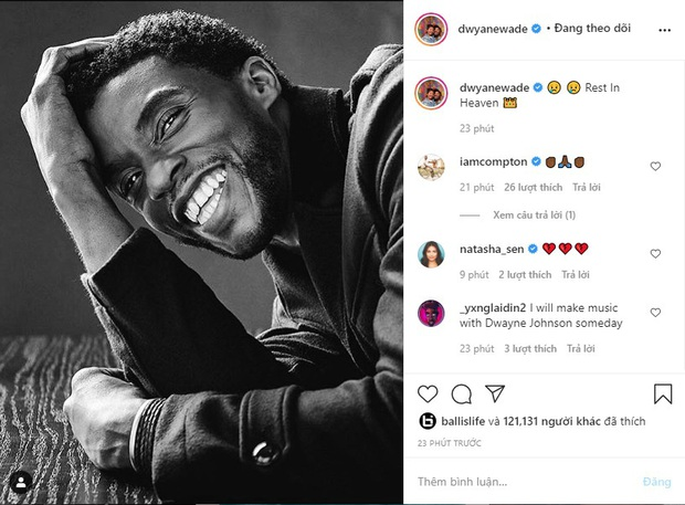 LeBron James cùng loạt sao NBA tiếc thương trước sự ra đi đột ngột của nam tài tử Black Panther Chadwick Boseman - Ảnh 4.