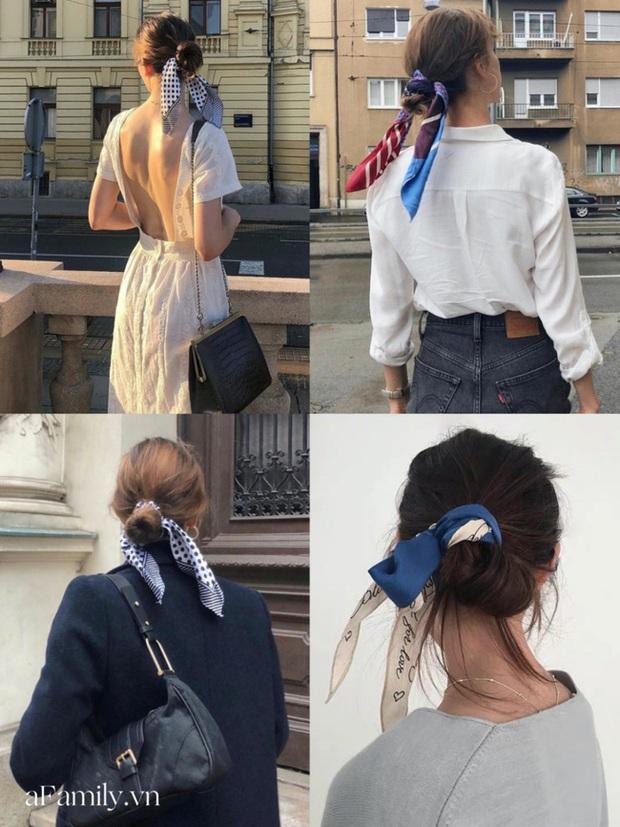 Gái Pháp buộc tóc đuôi ngựa thôi mà nhìn cứ bị mê đắm, hóa ra bí kíp nằm cả ở chiếc khăn thần thánh - Ảnh 7.