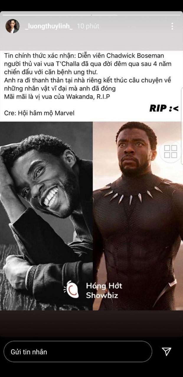 """Dàn sao Avengers, Ariana Grande và loạt nghệ sĩ Việt đau lòng trước sự ra đi của """"Black Panther"""" Chadwick Boseman - Ảnh 14."""