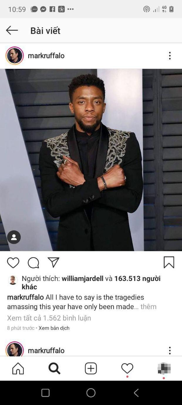 """Dàn sao Avengers, Ariana Grande và loạt nghệ sĩ Việt đau lòng trước sự ra đi của """"Black Panther"""" Chadwick Boseman - Ảnh 7."""