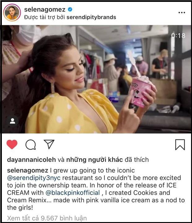BLACKPINK và Selena Gomez lên kế hoạch collab trước 1 năm, tặng quà cho cả showbiz, hợp tác với hãng kem lớn nhưng hiệu quả thì sao? - Ảnh 4.
