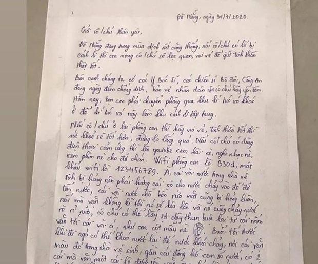 Nhường ký túc xá làm phòng cách ly, nữ sinh Đà Nẵng để lại lời nhắn cùng món quà siêu dễ thương dành cho người lạ - Ảnh 1.