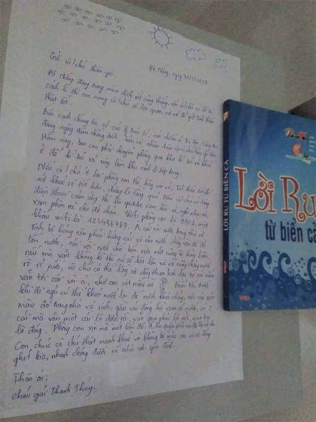Nhường ký túc xá làm phòng cách ly, nữ sinh Đà Nẵng để lại lời nhắn cùng món quà siêu dễ thương dành cho người lạ - Ảnh 2.