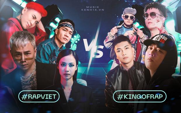 Rap Việt và King Of Rap đối đầu gay gắt ngay từ dàn HLV, hội tụ những nhân vật máu mặt nhất của cộng đồng Hiphop tại Việt Nam - Ảnh 1.