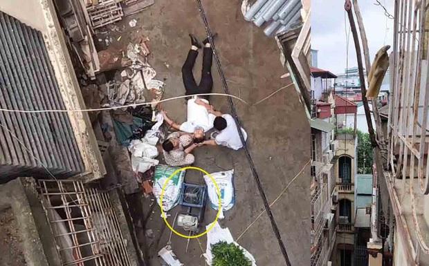 Đang đi trong ngõ ở trung tâm Hà Nội, người đàn ông bất ngờ bị xe rùa từ tầng 5 rơi trúng - Ảnh 1.
