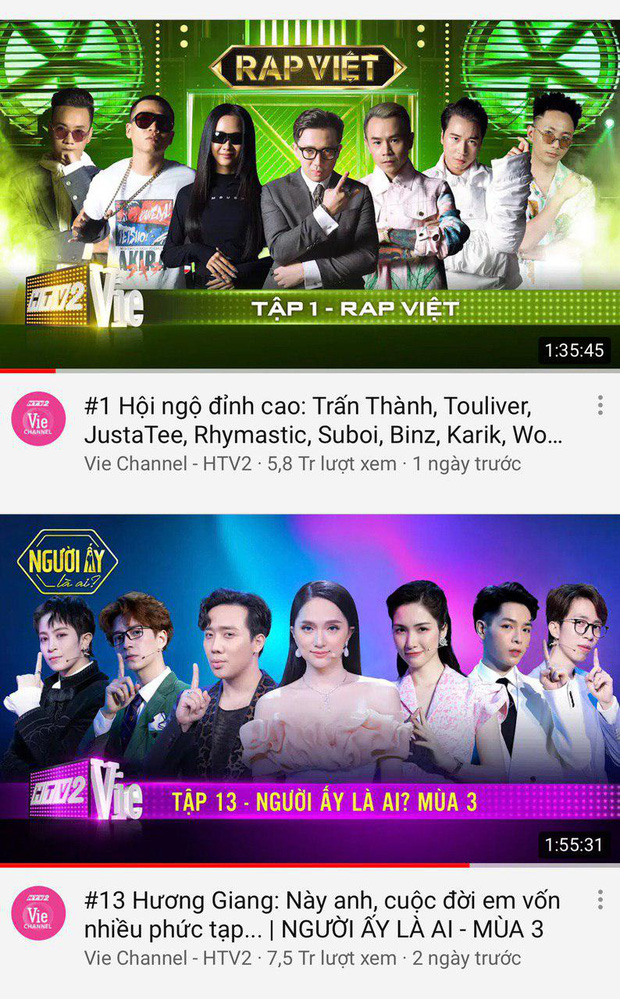 Không chỉ gây bão trong nước, Người ấy là ai & Rap Việt còn lọt top trending YouTube ở Singapore, Đài Loan! - Ảnh 2.