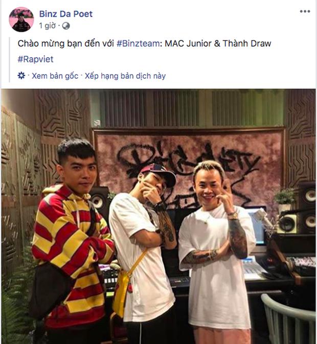 Binz đăng ảnh tự hào khoe 2 chiến binh tại Rap Việt nhưng fan lại đổ dồn sự chú ý đến tấm thảm siêu chất trong MV Bigcityboi - Ảnh 1.