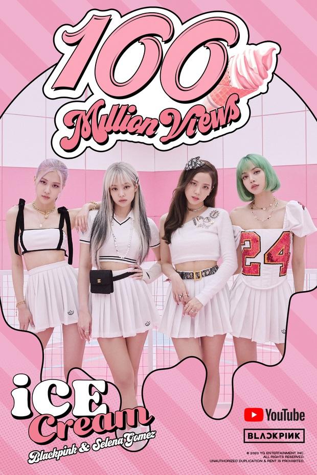 MV Ice Cream của BLACKPINK cuối cùng cũng cán mốc 100 triệu views, có vượt qua thời gian kỉ lục của How You Like That? - Ảnh 1.