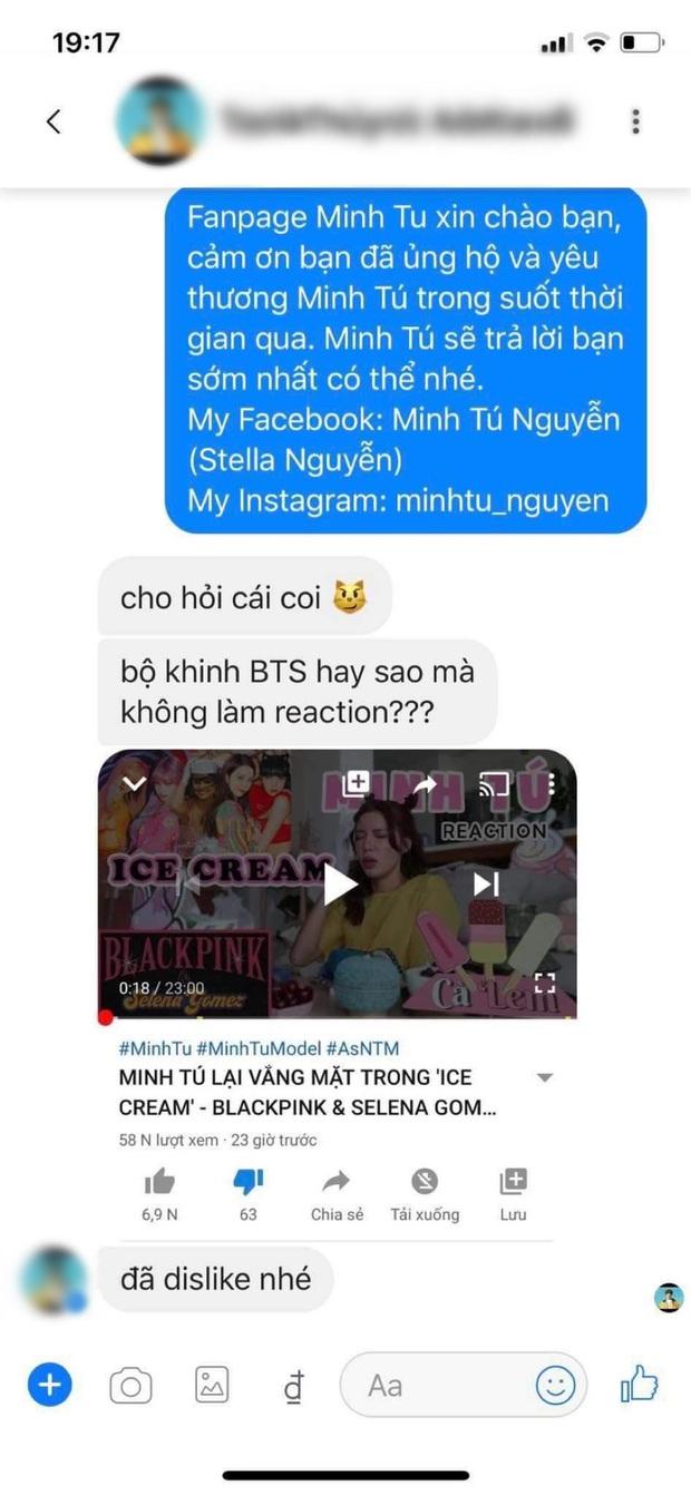 Bị tố khinh BTS vì làm clip reaction MV của BLACKPINK, Minh Tú phải lên tiếng giải thích từng vấn đề gây tranh cãi - Ảnh 3.
